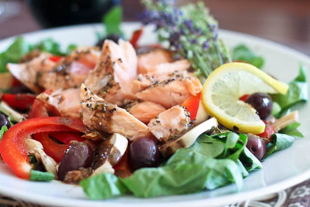 Quick Leftover Salmon Salad   by Sonia! The Healthy Foodie