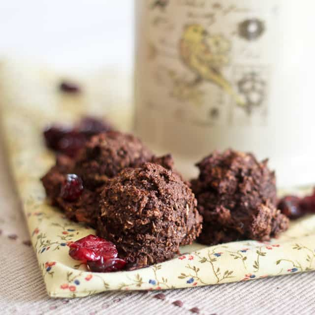 Carob Cranberry Energy Drops | by Sonia! The Healthy Foodie