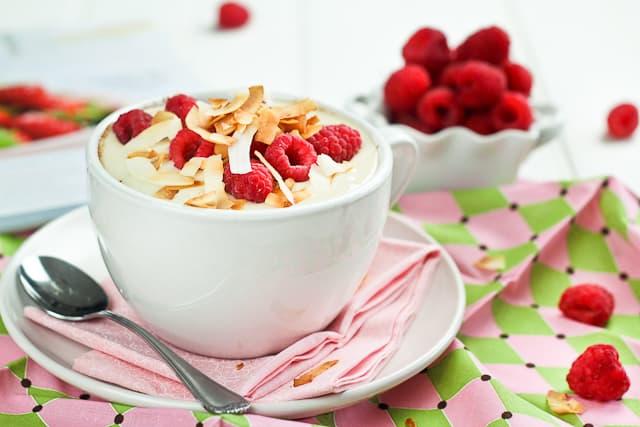 Choco Raspberry Instant Breakfast Bake   by Sonia! The Healthy Foodie