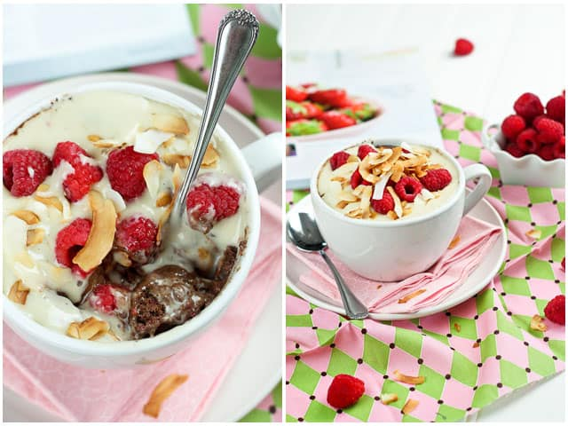 Choco Raspberry Instant Breakfast Bake | by Sonia! The Healthy Foodie