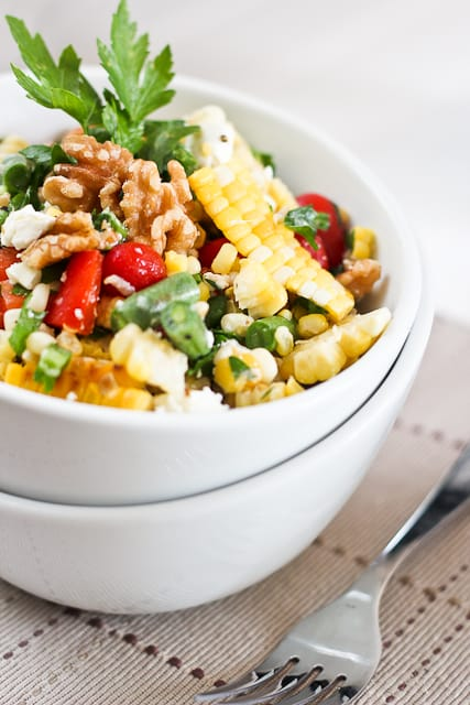 Grill Roasted Corn Salad | by Sonia! The Healthy Foodie