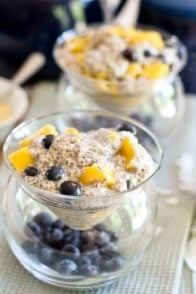 Overnight Mango Blueberry Chia Seeds Pudding | by Sonia! The Healthy Foodie