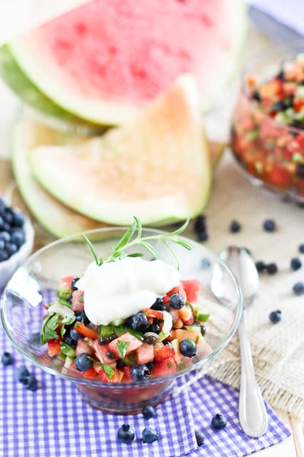 Watermelon Blueberry Salsa | by Sonia! The Healthy Foodie