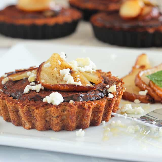 Caramelized Pear Chocolate Tartlets | by Sonia! The Healthy Foodie