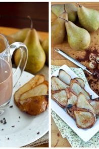 Caramelized Pear Chocolate and Goat Cheese Smoothie   by Sonia! The Healthy Foodie