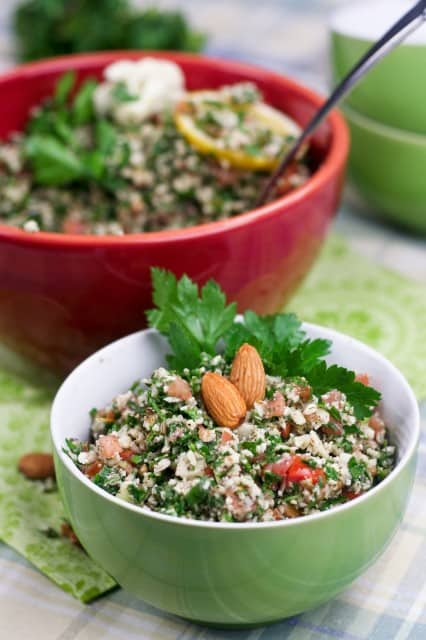 Grain Free Cauliflower Tabouleh | by Sonia! The Healthy Foodie