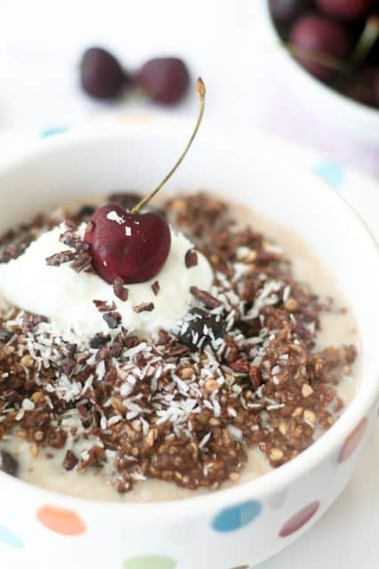 Cherry Almond Chocolate Overnight Oats   by Sonia! The Healthy Foodie