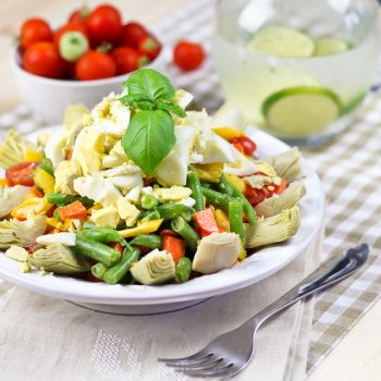 Green Beans, Artichoke and Hard Boiled Eggs Salad