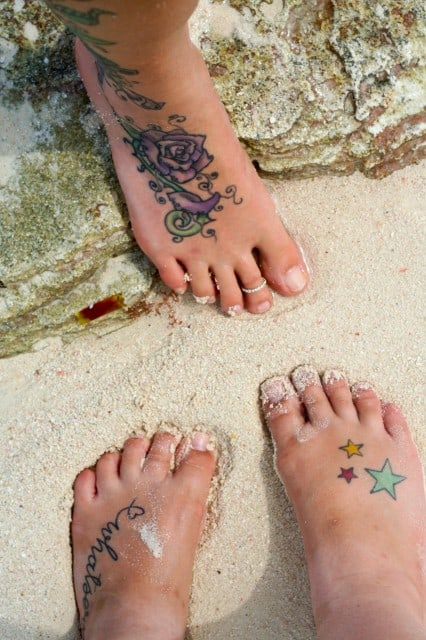 Feet in the Sand - Beautiful Sandy Beach of Playa Blanca