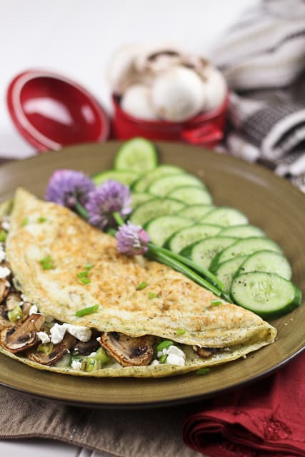 Mushroom Egg White Omelet | by Sonia! The Healthy Foodie
