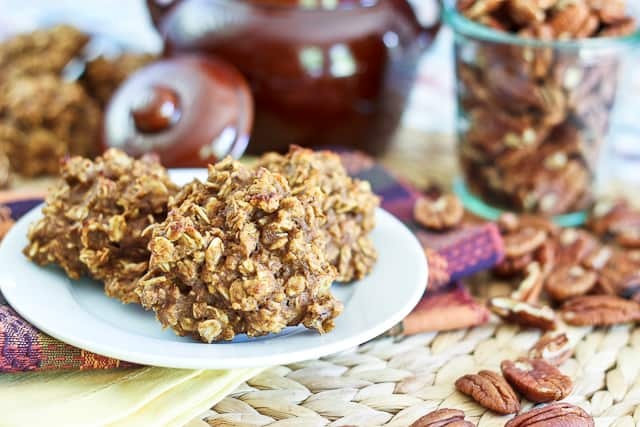 Completely Sugar Free / High Protein Pumpkin Oatmeal Cookies | by Sonia! The Healthy Foodie