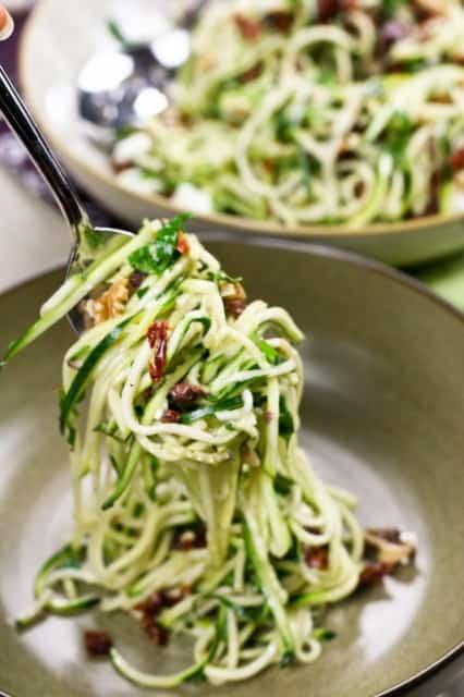 Zucchini Carpaccio Spaghetti Style | by Sonia! The Healthy Foodie