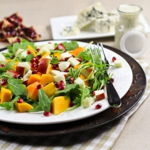 Butternut Squash & Apple Salad with Creamy Blue Cheese Dressing