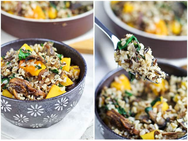 Brown Rice with Squash Spinach and Figs | By Sonia! The Healthy Foodie