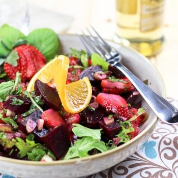 Beet, Strawberry and Orange Salad
