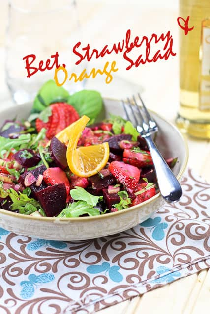 Beet Strawberry and Orange Salad | by Sonia! The Healthy Foodie