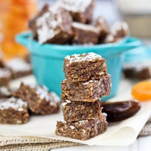 Chewy Vanilla Spice Fruit Squares | by Sonia! The Healthy Foodie