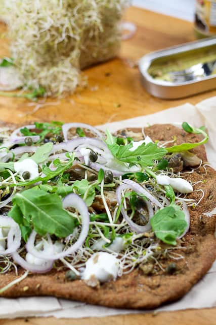 Smoked Herring and Yogurt Pizza | by Sonia! The Healthy Foodie