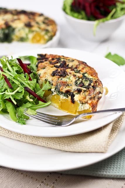 Squash and Rapini Frittata   by Sonia! The Healthy Foodie
