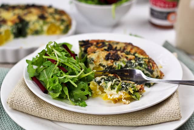 Squash and Rapini Frittata | by Sonia! The Healthy Foodie