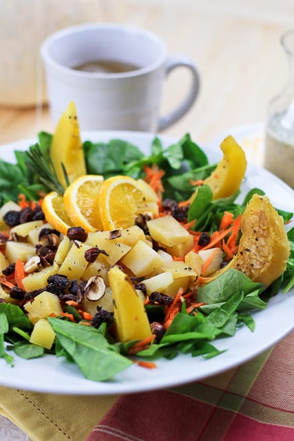 Acorn Squash and Rutabaga Salad   by Sonia! The Healthy Foodie