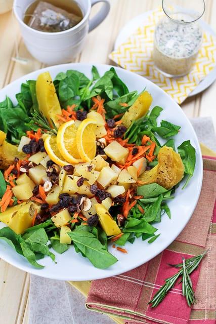 Acorn Squash Amp Rutabaga Salad With High Protein Dressing