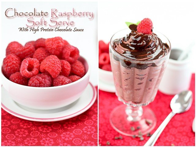 High Protein Chocolate Raspberry Soft Serve | by Sonia! The Healthy Foodie