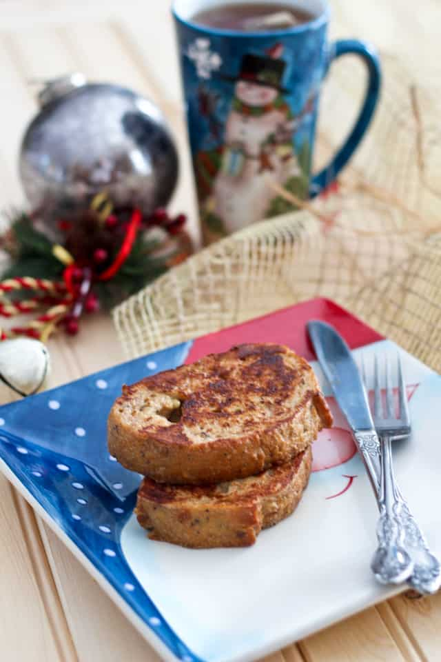 Healthy Eggnog French Toasts with and optional kick | by Sonia! The Healthy Foodie