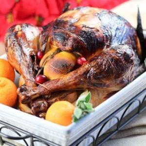 Roasted Turkey in Light Orange and Apple Brine