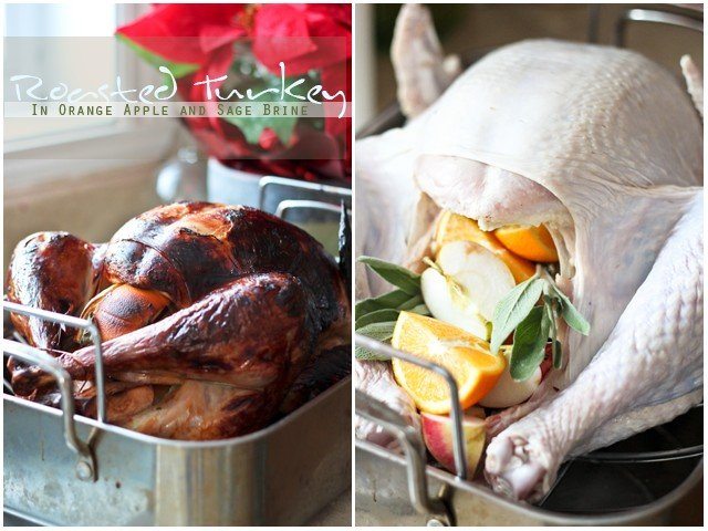 Roasted Turkey in Light Orange Apple Brine by Sonia|! The Healthy Foodie