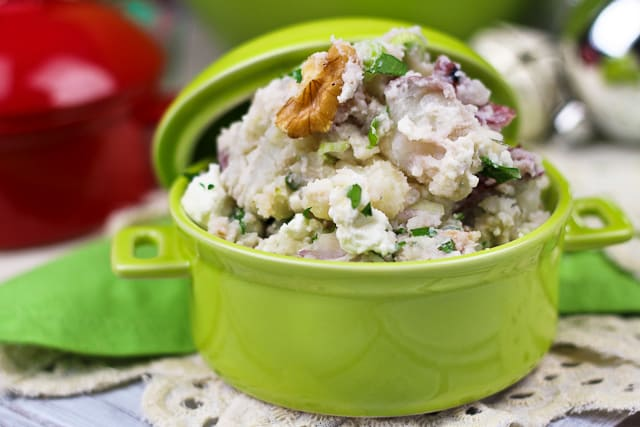 Warm Smashed Potato Salad | by Sonia! The Healthy Foodie