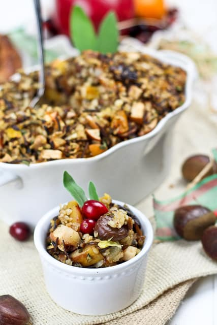 Brown and Wild Rice Turkey Stuffing   by Sonia! The Healthy Foodie