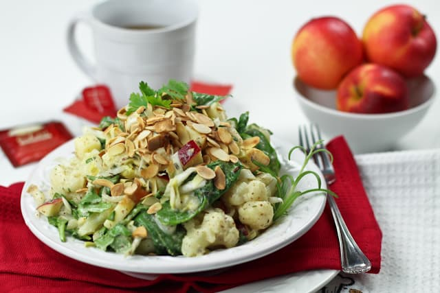 Cauliflower Endive and Apple Protein Bomb Salad | by Sonia! The Healthy Foodie