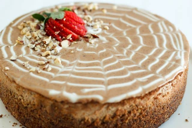 Decadently Healthy Chestnut and Hazelnut Cheesecake | by Sonia! The Healthy Foodie