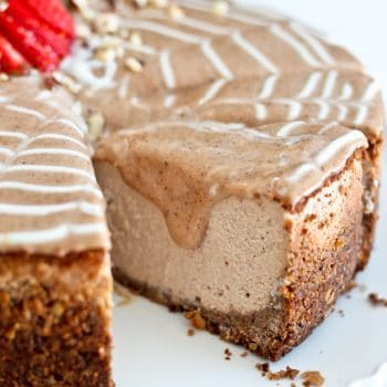 Decadently Healthy Chestnut and Hazelnut Cheesecake… or what I had for breakfast this week!