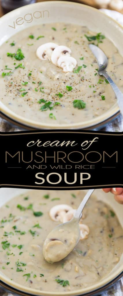 Rich, creamy, thick, comforting, soul warming, and crazy delicious! Yet, you will never believe just how nutritious this Vegan Cream of Mushroom and Wild Rice Soup actually is...