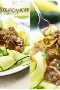 Lean Boeuf Stroganoff on Zucchini Ribbons | by Sonia! The Healthy Foodie