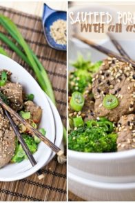 Sauteed Pork Tenderloin with an Asian Flare | by Sonia! The Healthy Foodie