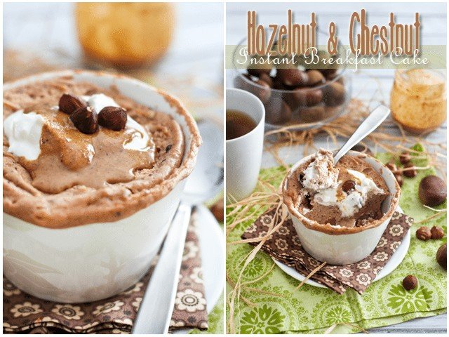 Chestnut Hazelnut Instant Breakfast Cake | by Sonia! The Healthy Foodie