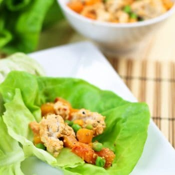 Ground Chicken and Butternut Squash Lettuce Wraps