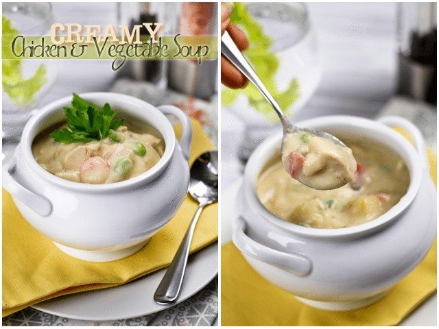 Creamy Chicken and Vegetable Soup   by Sonia! The Healthy Foodie