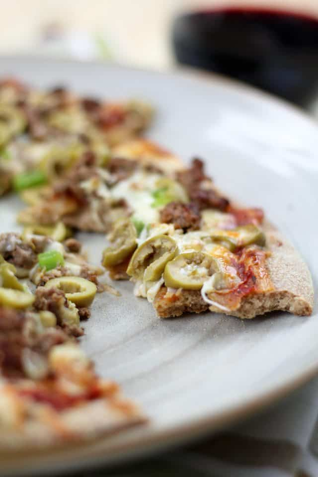 Ground Beef and Green Olives Pizza | by Sonia! The Healthy Foodie