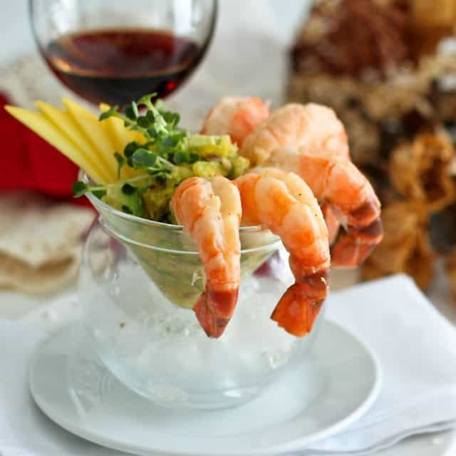 Shrimp Cocktail with Mango Avocado Salsa • The Healthy Foodie