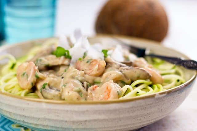 Creamy Shrimp On Zucchini Pasta   by Sonia! The Healthy Foodie