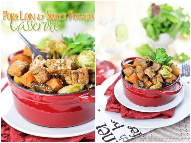 Pork Loin Sweet Potato Casserole | by Sonia! The Healthy Foodie