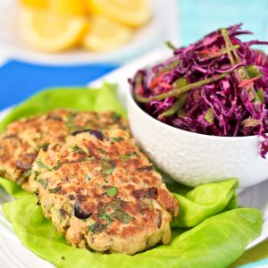 Tuna Fish Patties and Quick Coleslaw