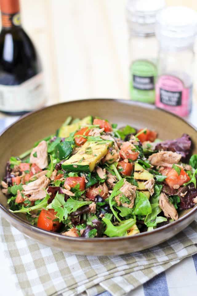 Quick and healthy tuna fish salad for Fish and salad
