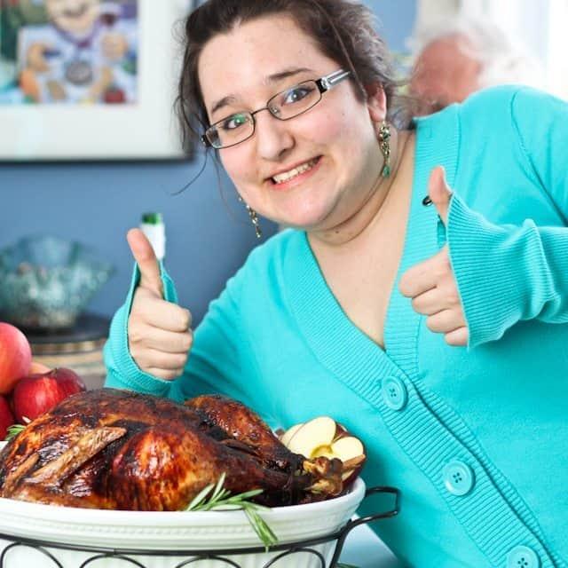 Tasha Okaying the Turkey   by Sonia! The Healthy Foodie