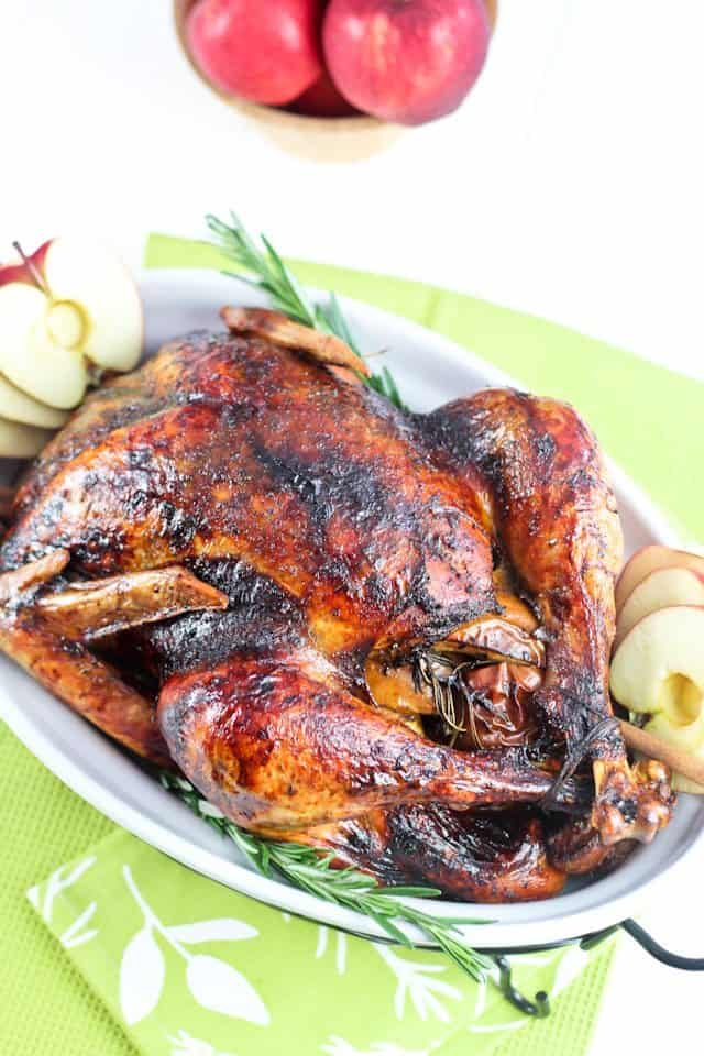Maple Glazed Spicy Apple Roasted Turkey   by Sonia! The Healthy Foodie