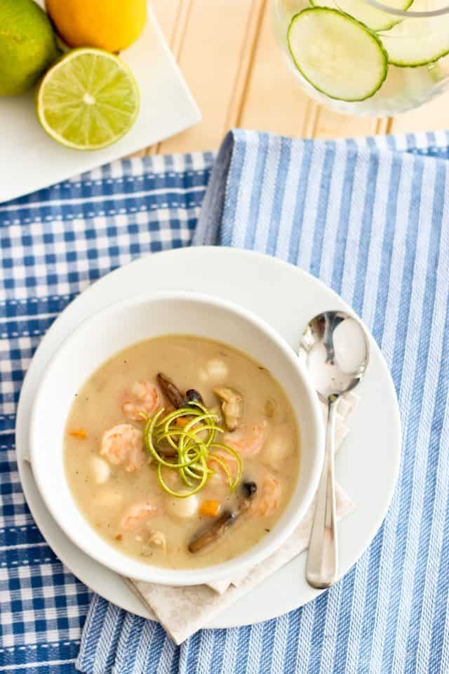Creamy Seafood Chowder | by Sonia! The Healthy Foodie
